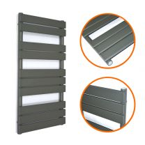 1000 x 450mm Anthracite Heated Towel Rail, Bathroom Radiator
