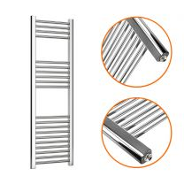 1200 x 400mm Straight Chrome Heated Towel Rail