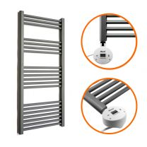 1200 x 400mm Electric Anthracite Heated Towel Rail
