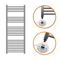 1200 x 400mm Electric Chrome Heated Towel Rail