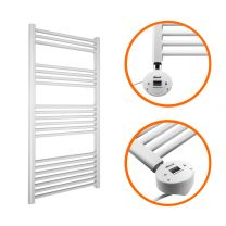 1200 x 500mm Electric White Heated Towel Rail