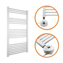 1200 x 600mm Electric White Heated Towel Rail