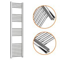 1600 x 400mm Straight Chrome Heated Towel Rail