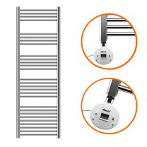 1600 x 400mm Electric Chrome Heated Towel Rail