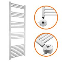 1600 x 400mm Electric White Heated Towel Rail