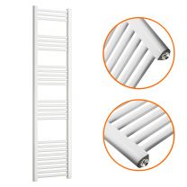 1600 x 400mm Straight White Heated Towel Rail