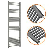 1600 x 500mm Straight Anthracite Heated Towel Rail
