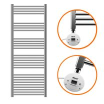 1600 x 500mm Electric Chrome Heated Towel Rail