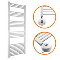 1600 x 500mm Electric White Heated Towel Rail