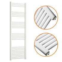 1600 x 500mm Straight White Heated Towel Rail