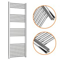 1600 x 600mm Straight Chrome Heated Towel Rail