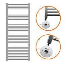 1600 x 600mm Electric Chrome Heated Towel Rail