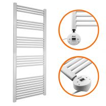 1600 x 600mm Electric White Heated Towel Rail