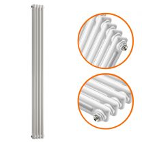 1800 x 203mm White Vertical Traditional 2 Column Radiator
