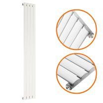 1780 x 236mm White Single Oval Tube Vertical Radiator