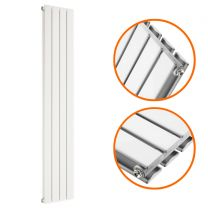 1600 x 280mm White Double Flat Panel Vertical Radiator