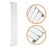 1600 x 280mm White Single Flat Panel Vertical Radiator