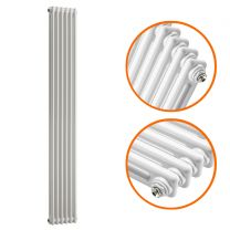 1500 x 293mm White Vertical Traditional 2 Column Radiator