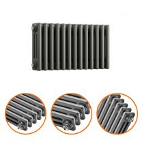 300 x 608mm Anthracite Horizontal Traditional 3 Column Radiator