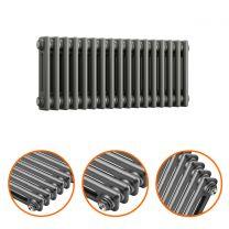 300 x 788mm Anthracite Horizontal Traditional 2 Column Radiator