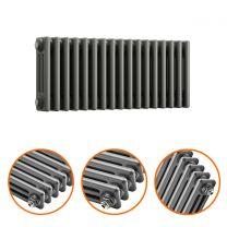 300 x 788mm Anthracite Horizontal Traditional 3 Column Radiator