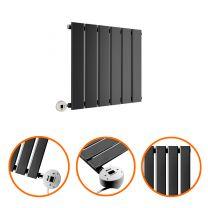 400 x 420mm Electric Black Single Flat Panel Horizontal Radiator