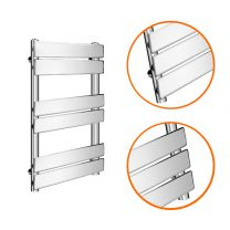 650 x 400mm Flat Panel Chrome Ladder Towel Radiator