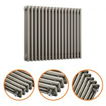 600 x 788mm Raw Metal Lacquered Horizontal Traditional 3 Column Radiator