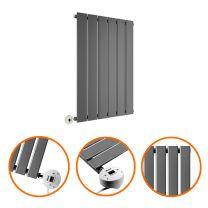 635 x 420mm Electric Anthracite Single Flat Panel Horizontal Radiator