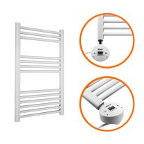 800 x 400mm Electric White Heated Towel Rail