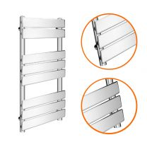 800 x 450mm Flat Panel Chrome Ladder Towel Radiator