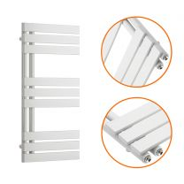 850 x 400mm White Flat Panel Bathroom Towel Radiator