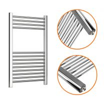800 x 500mm Straight Chrome Heated Towel Rail