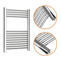 800 x 600mm Straight Chrome Heated Towel Rail