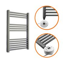 800 x 600mm Electric Anthracite Heated Towel Rail