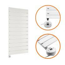 840 x 400mm Electric White Single Flat Panel Vertical Radiator