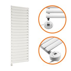 1180 x 400mm Electric White Single Oval Panel Vertical Radiator