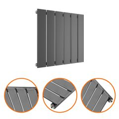 400 x 420mm Anthracite Single Flat Panel Horizontal Radiator